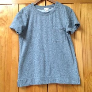 J Crew | Short Sleeve Pocket Sweatshirt